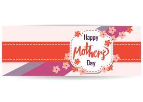 Vecteur de bannière fête des mères