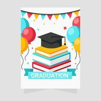 vecteur de cartes de voeux d'obtention du diplôme