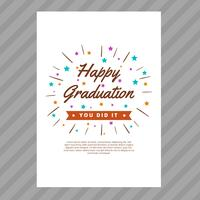 Graduation Card with Typography Style Vector