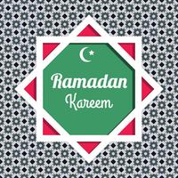 Vector de fondo de Ramadán