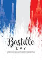 Grunge Bastille Day Background