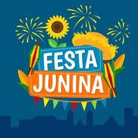 vetor festival junina de festa