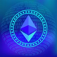 Ethereum Network Background vector