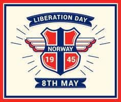 Unique Norwegian Day of Liberation Vectors