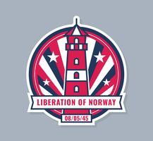Único dia norueguês de vetores de libertação