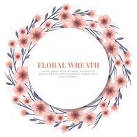 Grinalda de flor de cerejeira de vetor
