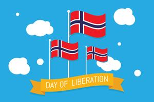Norwegian Day of Liberation vector