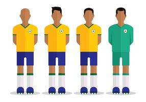 Brasilianischer Fußball Charakter vektor