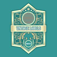 Vintage Labels Ornamental Vector