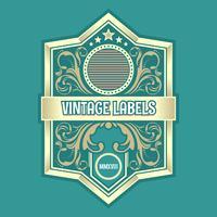 Vector vintage de etiquetas ornamentales