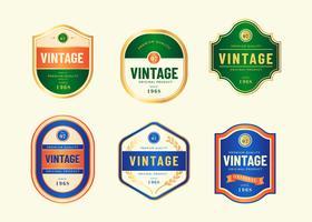 Vecteur de modèle Vintage étiquettes