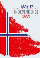 norwegian day of liberation Illustration
