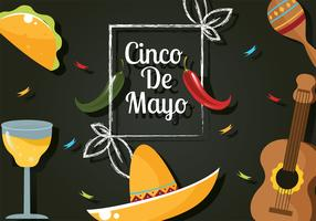 conception de vecteur de cinco de mayo