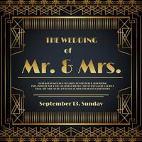 Bruiloft uitnodiging kaart Vector