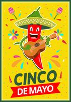 Conception d'affiche de Cinco De Mayo