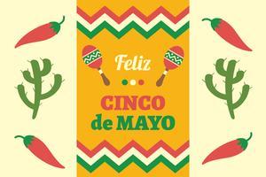Cinco de Mayo bakgrund