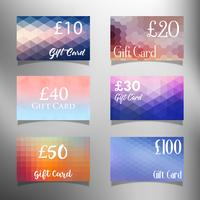 Gift card designs vector