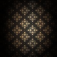 Decorative black and gold background  vector