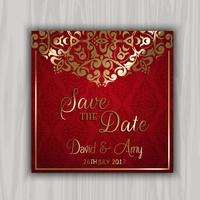 Decorative save the date design