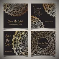Luxury save the date designs  vector