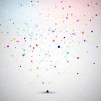 Connecting dots background  vector