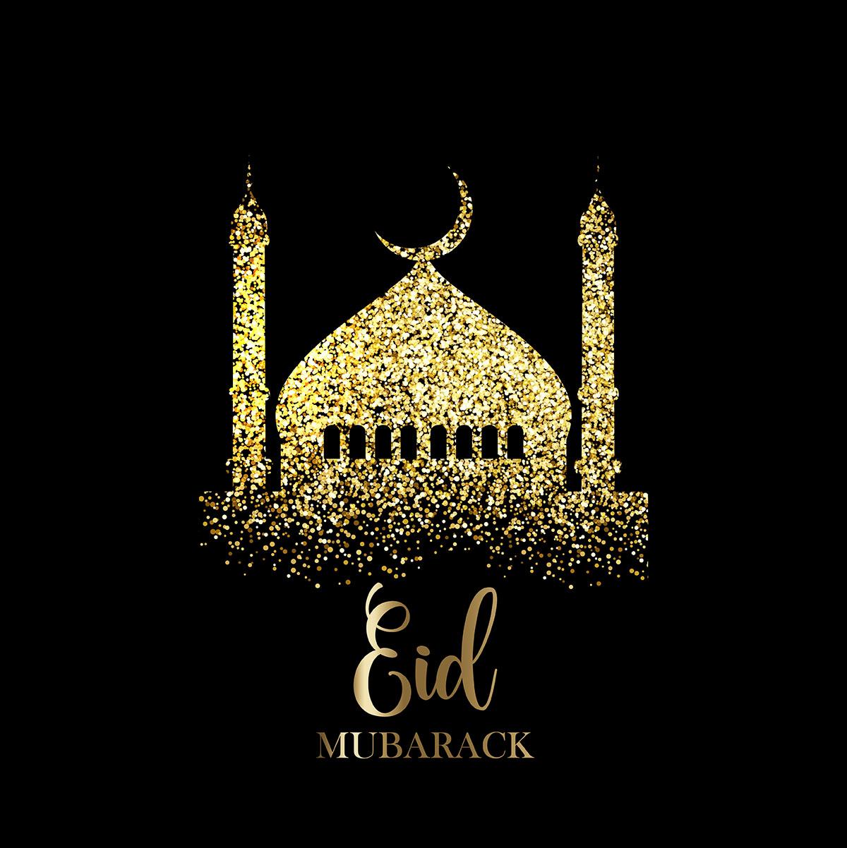 Glitter Eid Mubarak background - Download Free Vectors, Clipart ...