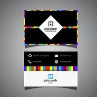 Diseño moderno de tarjetas de visita.