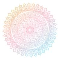 Colourful mandala design