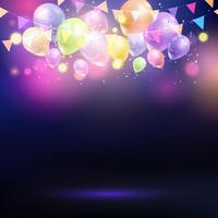 Balloons and bunting background  vector