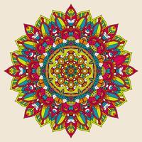 Färgrik mandala design