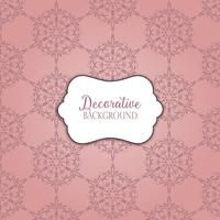 Decorative pattern background
