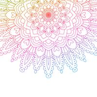 Rainbow coloured mandala background