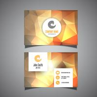Business card template with low poly design vector