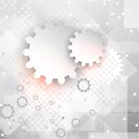Fondo de tecnología abstracta con engranajes