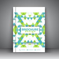 Laag poly-brochureontwerp