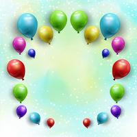 Balloons on starry watercolour background  vector
