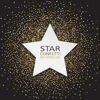 Fundo de confete estrela vetor