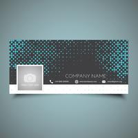 Halftone dots social media timeline cover