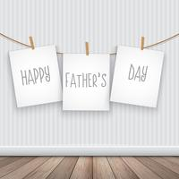 Happy Father's day background with hanging pictures