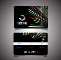 Cartão de visita de linhas coloridas