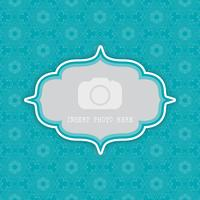 dekorativer Hintergrund mit Rahmen für Foto 0803