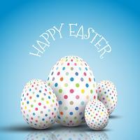 Fondo de huevos de Pascua con huevos manchados