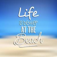 Strand citaat achtergrond