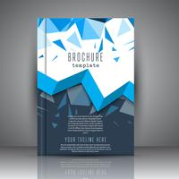 Brochure template with low poly design vector