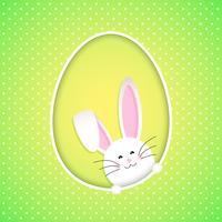 Fondo lindo conejito de Pascua