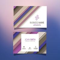 Business card with striped design
