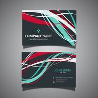 Business card template with flowing lines design