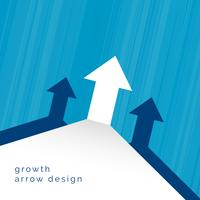 arrow moving upward business concept design