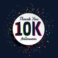 social media 10000 follower successo con coriandoli