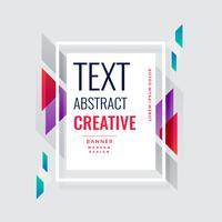 Fondo de diseño moderno banner creativo